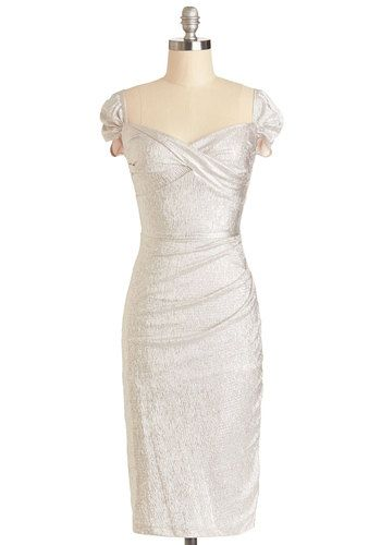 Retro Silver Dresses