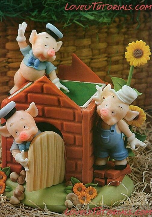 *SORRY, no information as to product used ~ 3 Little Pigs