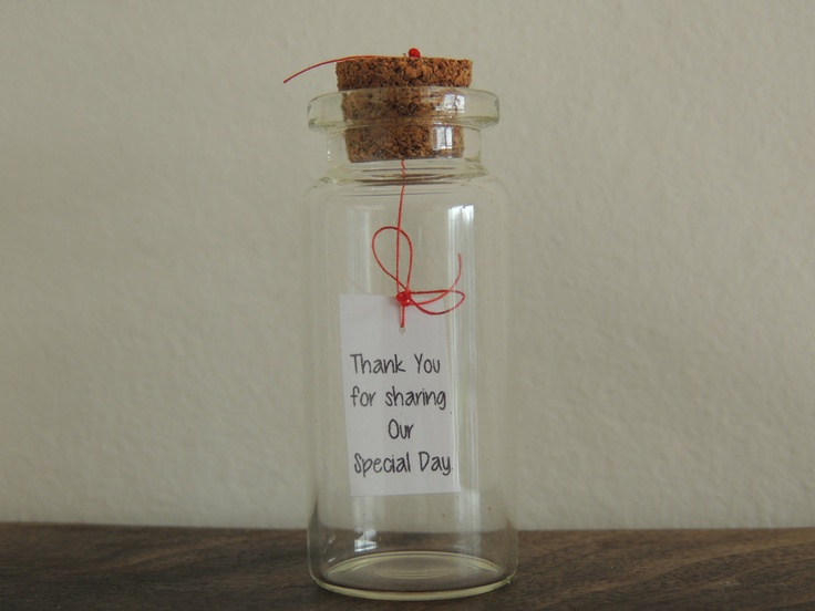 Message In A Bottle Wedding Favor Thank You For Sharing