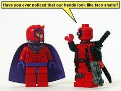 lego deadpool funny | ... hands funny lego shell super taco xmen heroes marvel magneto deadpool