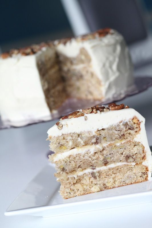 Hummingbird Cake--bananas, pineapple, pecans and white chocolate cream ...