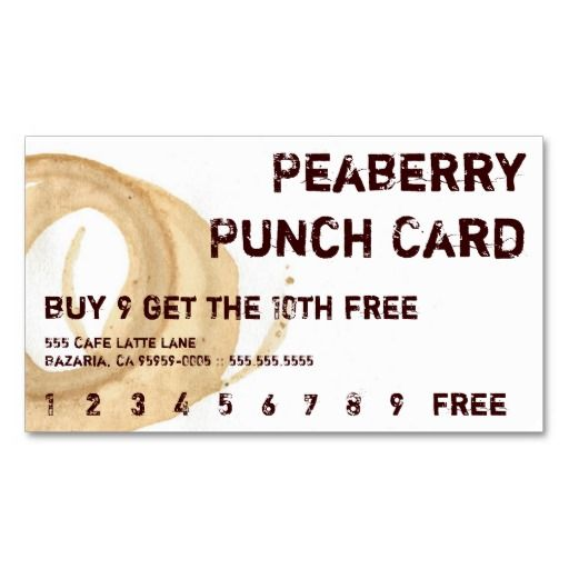 Parisian coffee drink loyalty punch card business card template parisian coffee drink loyalty punch card business card template coffeeholic pinterest coffee drinks card templates and business cards flashek Images