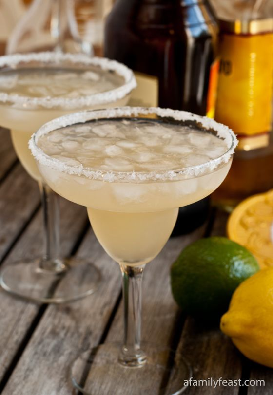 The Best Homemade MargaritasIngredients  ½ cup freshly squeezed lime juice (approximately 5 limes) 2 tablespoons freshly squeezed lemon juice (1 lemon) 1 cup Triple Sec 1 cup tequila (we are partial to Jose Cuervo Especial, but you can use your favorite brand) 3 cups crushed ice Kosher salt 1 lime, cut into quarters