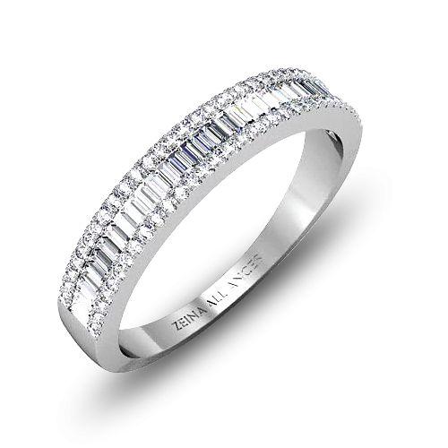 Alliance demi tour diamant or blanc  Servan
