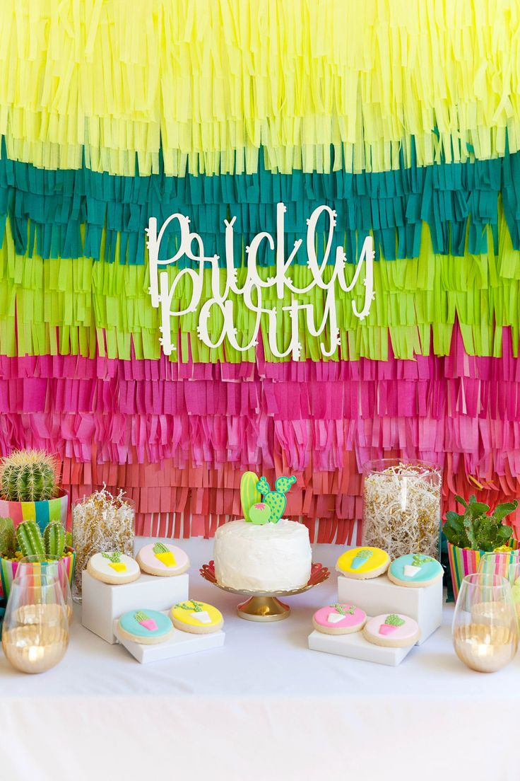 "I have been wanting to put together a cactus themed party for a LONG time.  More exact… a ""prickly…"
