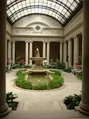 The Frick Museum's interior garden, NYC.