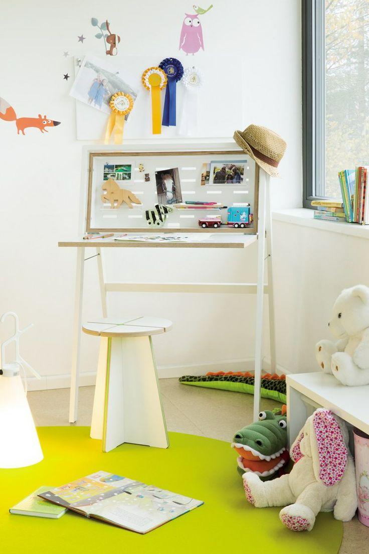 Desk wooden children s desk moulin roty furniture children s desk - Secretary Desk Whiteboard Hidesk By M Ller M Belwerkst Tten Design Michael Hilgers Desk For Kidssecretary