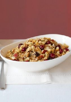 Apple, Cranberry & Pecan Stuffing – You don't need an excuse or a holiday to make this seriously satisfying stuffing studded with nuts, apples and cranberries.