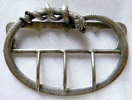 French silver buckle