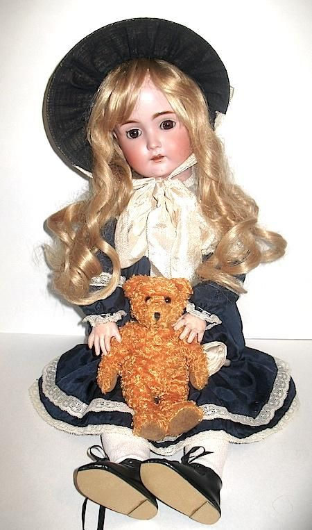 Beautiful Kestner 171 Doll, Vintage Costume, Excellent Condition on from miladyschoice on Ruby Lane