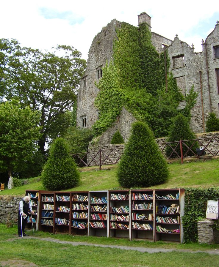 This is the castle at Hay-on-Wye, all the books are second hand and part of the World's Largest Second Hand book store.