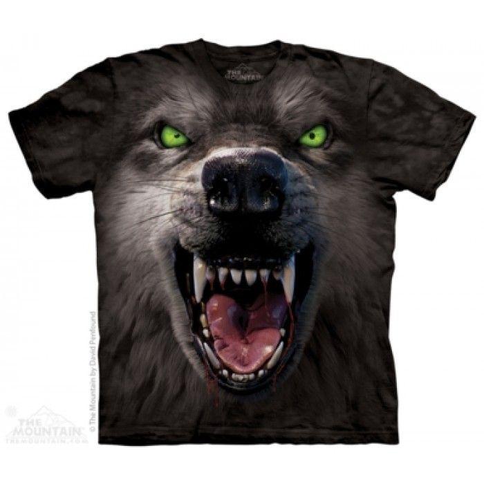 Tricouri The Mountain – Tricou Big Face Attack Wolf