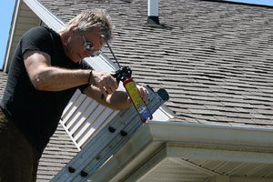 With a $5 tube of gutter sealant, you can repair leaky gutter joints and small holes. #springcleaning