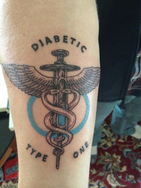Diabetic medical alert tattoo