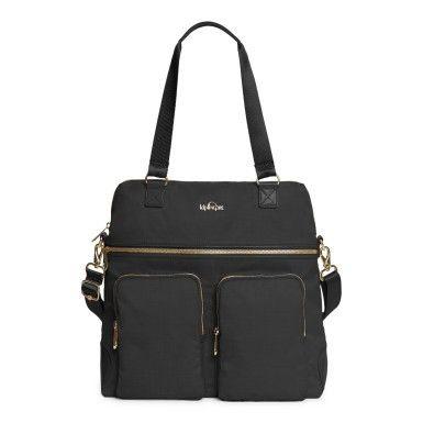 Camryn Laptop Handbag - Black Crosshatch