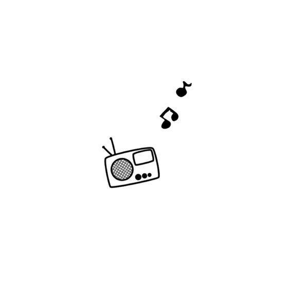 Kleines süßes Radio. Könnte ein cooler Stock sein und stecken. #Tattoos