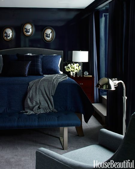 Modern Blue And Black Bedroom 135 best dark walls images on pinterest | home, bedrooms and dark