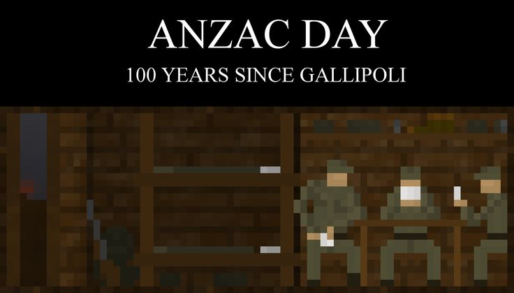 ANZAC Day, 100 Years Since Gallipoli.   You can see the creation of this pixel art here: https://youtu.be/ovjRmSzB3yI