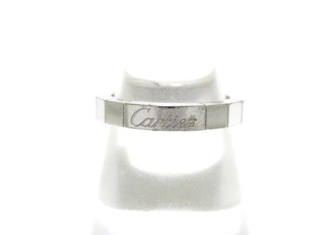 1ae9fb2398b1f Auth Cartier Lanieres 18K White Gold AK4070 Ring #51(US#5 3/4) (eBay ...