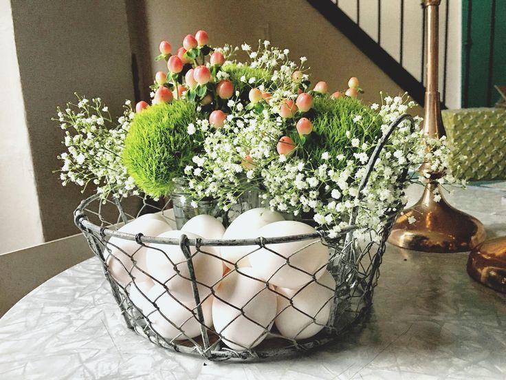 Easter florals, spring florals, center pieces