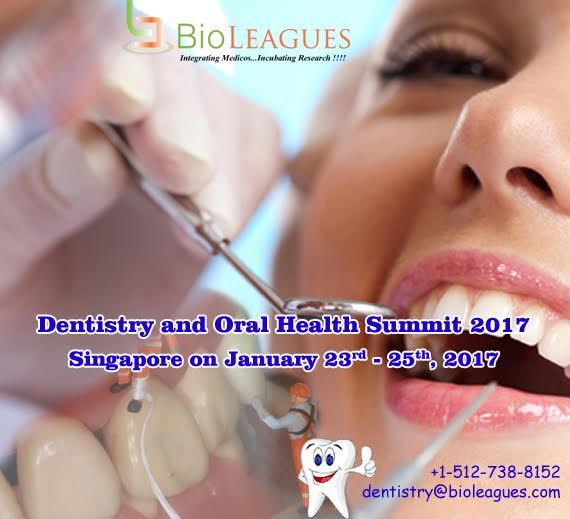 International Conference on Dentistry and Oral Care 23rd - 25th, January 2017 Singapore #Dentistry #Dental #Implant #DentistryToolsandTechniques #OrthodonticsanProsthodontics #Periodontology #RestorativeDentistry #OralOncology #conference #dentalconference #oralconference #events #forum #meeting