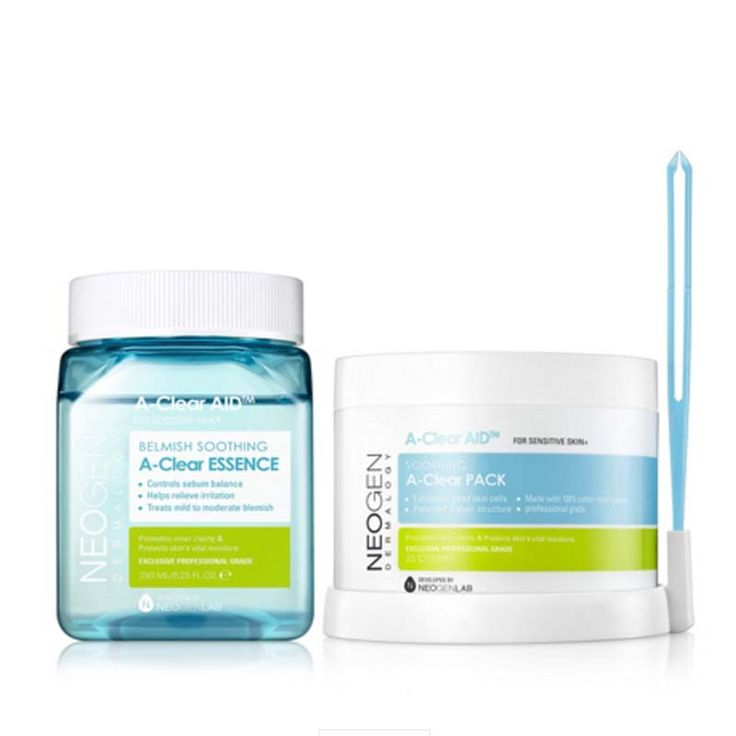 [NEOGEN] Dermalogy Blemish Soothing A-Clear Essence & Pack Kit 250ml