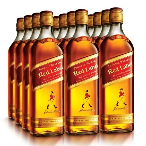 Pack Whisky Johnnie Walker Red Label 12x1l