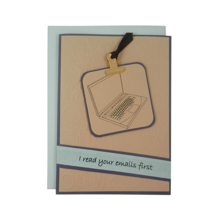 Administrative Assistants Day Greeting Card - I read your e-mails first - Secretary's Day Card - Administrative Assistant Thank You Card Peach - Embellish by Jackie