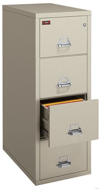 Fire Resistant Two Hour 4 Drawer Letter File By Fireking 4 1956
