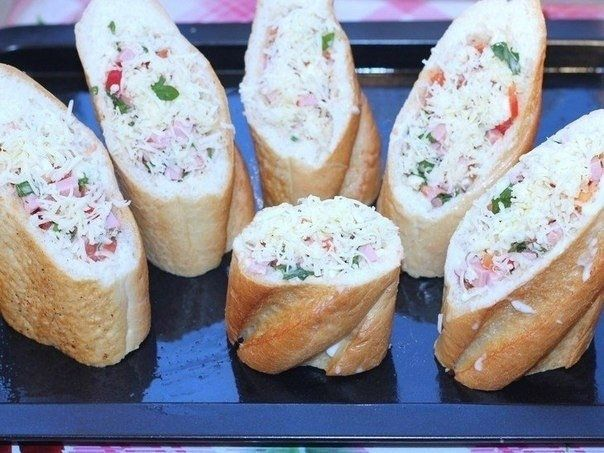 Хлебные стаканчики из багета 1