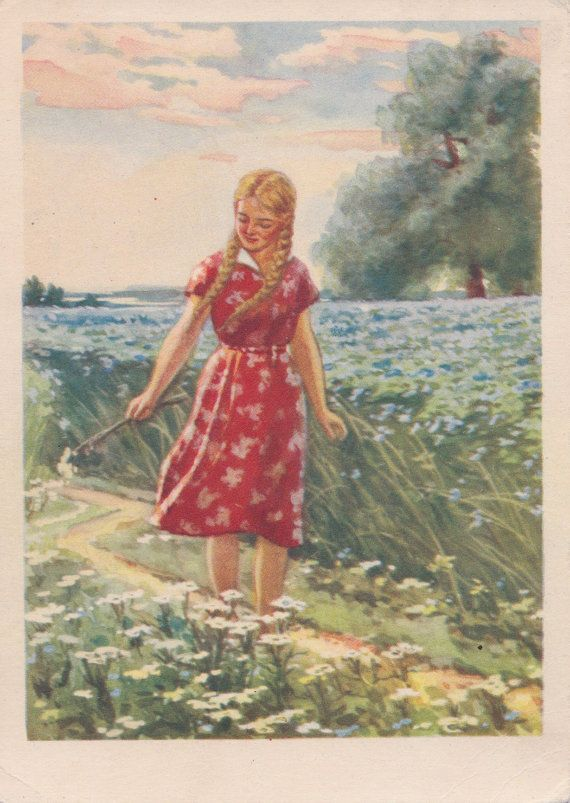Postcard Drawing by V. Orlov  1955. by RussianSoulVintage on Etsy