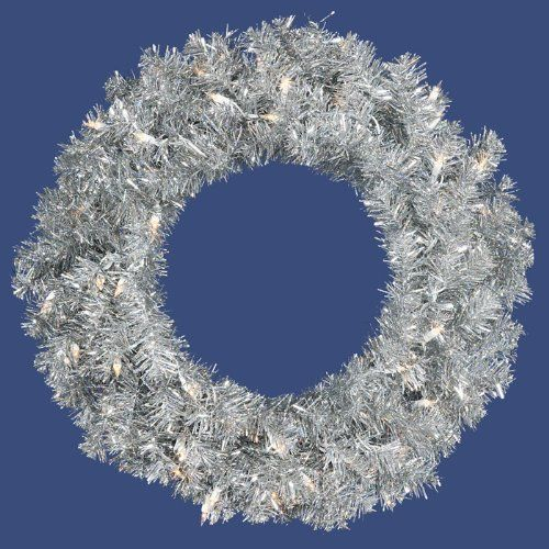 Artificial Christmas Wreath - 24'' by Gordon Companies, Inc. $51.00. This product may be prohibited inbound shipment to your destination.. Brand Name: Gordon Companies, Inc Mfg#: 30667861. Shipping Weight: 4.00 lbs. Picture may wrongfully represent. Please read title and description thoroughly.. Please refer to SKU# ATR25760313 when you inquire.. Artificial Christmas wreath/silver tinsel/180 tips/pre-lit with 50 clear mini lights/use inside only/24'' dia./made of tins...