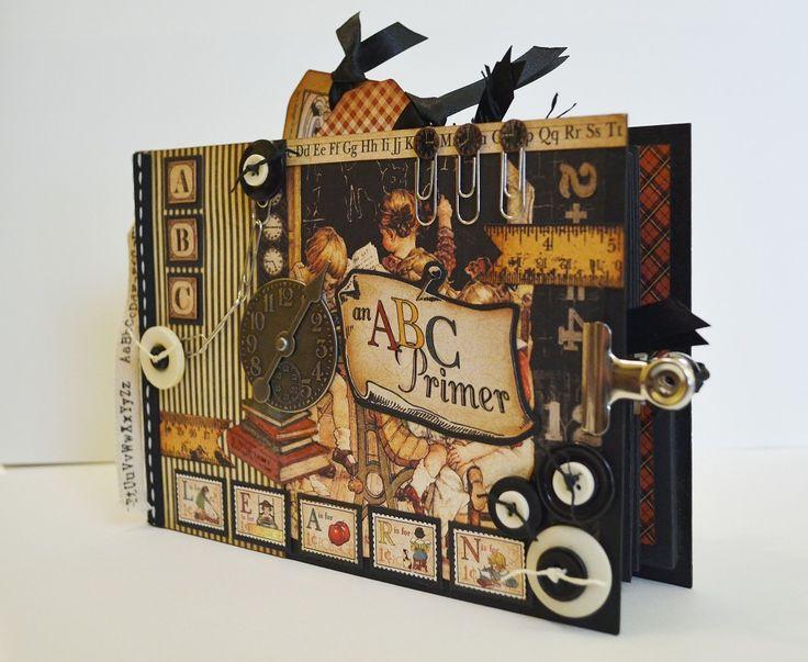 Graphic 45 ABC Primer Mini Album, Scrapbook Album | The Happy Yellow Trading Co.
