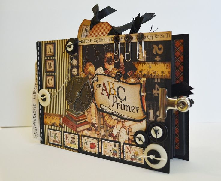 Graphic 45 ABC Primer Mini Album, Scrapbook Album | The Happy Yellow Trading Co.