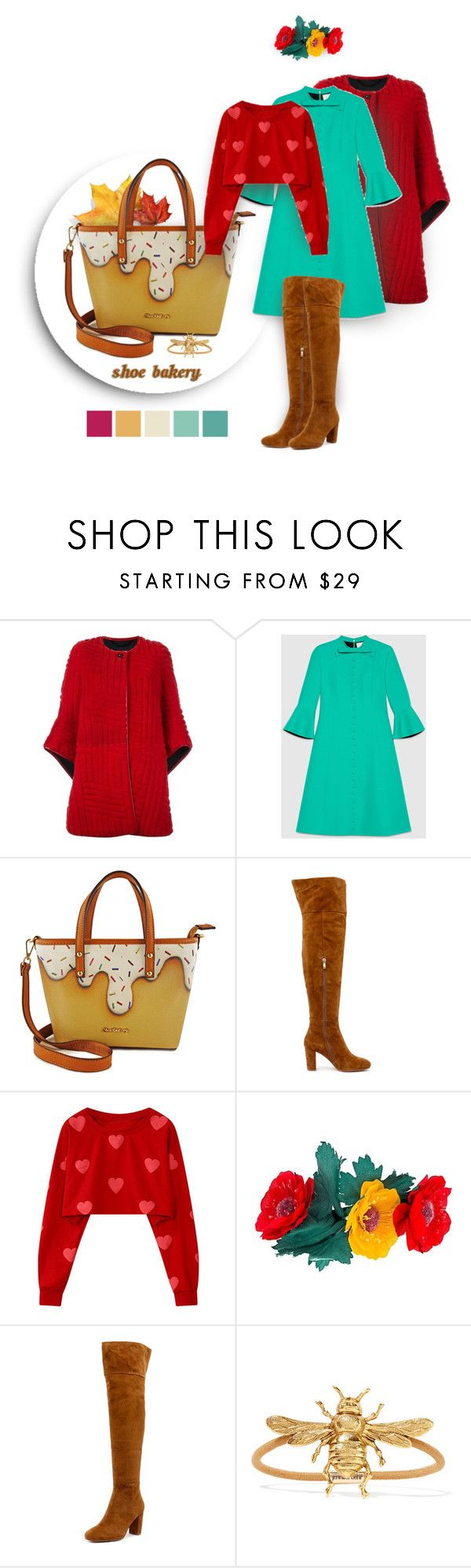 """""""Shoe Bakery Giveaway"""" by ante-panda ❤ liked on Polyvore featuring Kenzo, Gucci, Top End, Jennifer Behr, kenzo, gucci and shoebakery"""