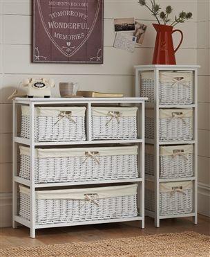 White Wide Storage Unit