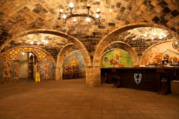 The Knight's Hall at Castello di Amorosa, Napa Valley