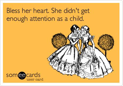 Haha! This must be where all of her attention seeking antics come from lol!