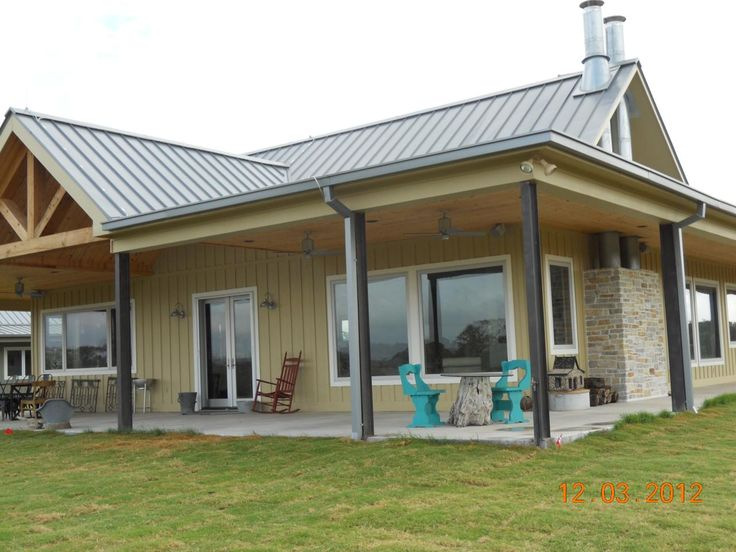 texas barndominium house plans | Picture Gallery - Custom Homes  Except with dark wood on the outside panels