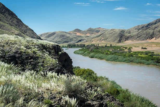 The lush verdant landscapes around Serra Cafema along the Kunene River #Namibia #greenseason