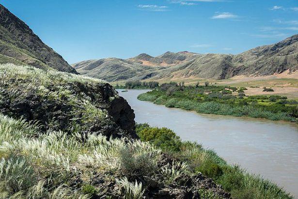 The lush verdant landscapes around Serra Cafema along the Kunene River #Namibia #greenseason