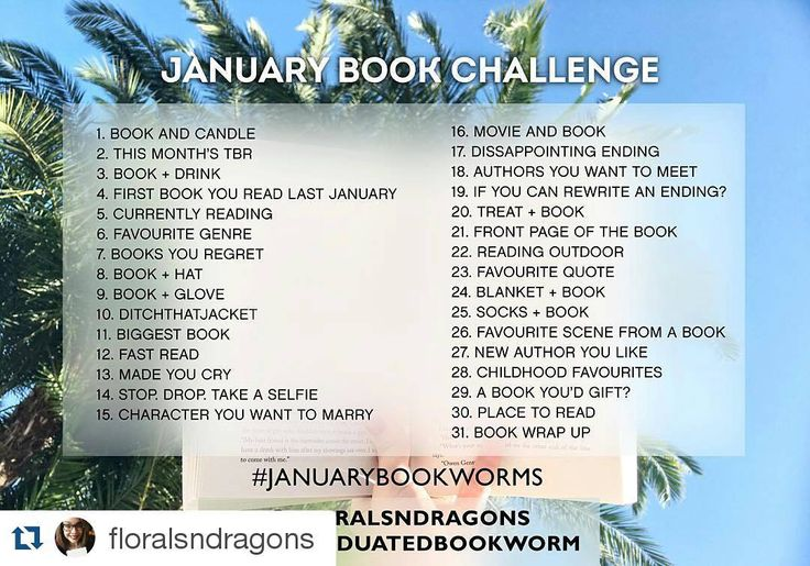 #Repost @floralsndragons with @repostapp ・・・ Hey friends!  I'm so excited to announce that @thegraduatedbookworm and I have created a #januarybookchallenge  together!  We are so excited to be doing this and can't wait to partake! Hope you guys like to join ❤️ Use #januarybookworms :) #books #bookworm #booklove #bookish #bookstagram #literature #instabooks #book #bookchallenge #bookish #currentlyreading  I'm excited to try this January Book Challenge!