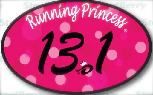 The 13.1 Running Princess auto magnet is finally here! Display your hard work on your fridge, car, truck etc.