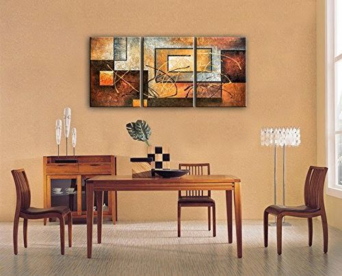 Phoenix Decor-Abstract Canvas Wall Art Paintings on Canvas for Wall Decoration Modern Painting Wall Decor Stretched and Framed Ready to Hang 3 Piece Canvas Art - Store Online for Your Live and Style