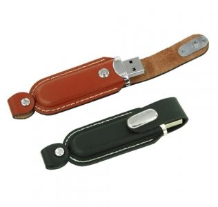 Promotional USb Presented In A Leather Case