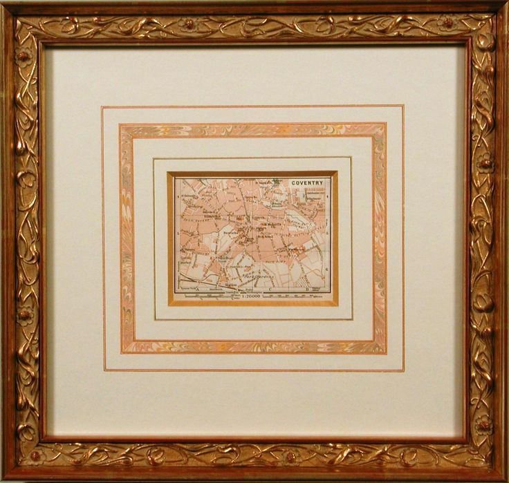 Houston Map Framed%0A Coventry Map with French mat  bradleyshouston