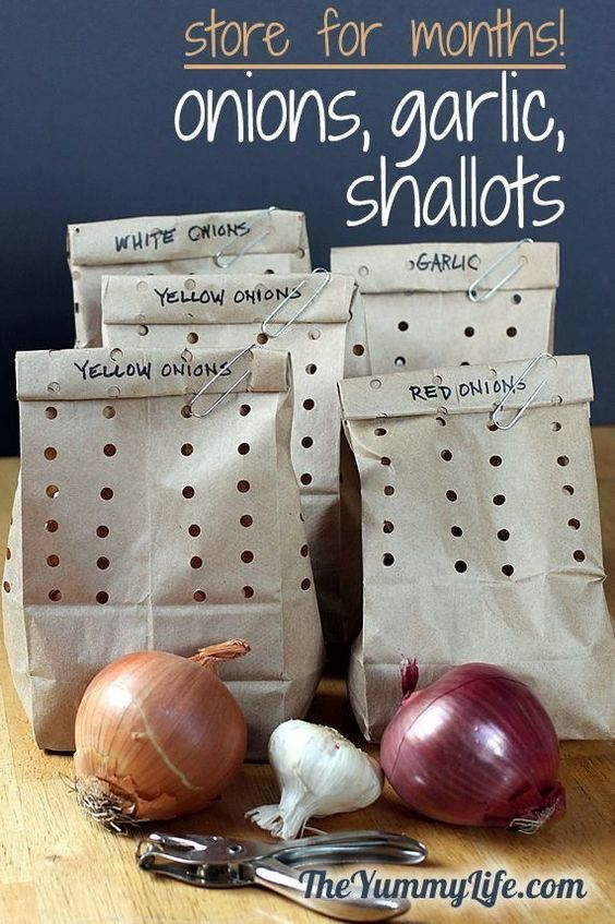 How to Store Onions, Garlic and Shallots - do this and they will stay fresh for months!