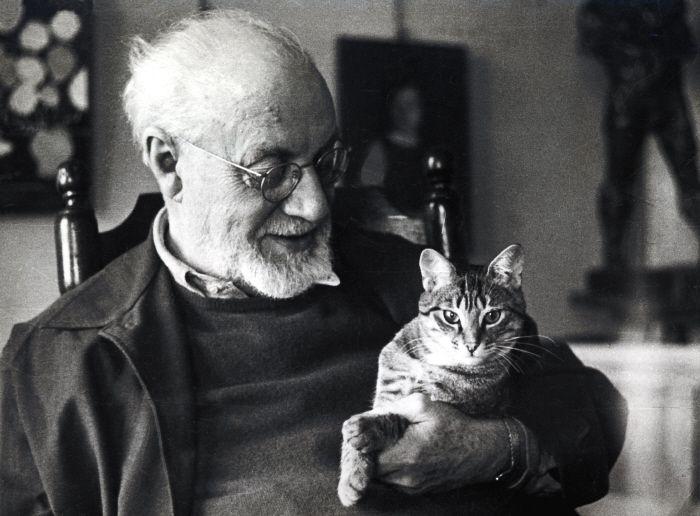 Henri Matisse, a rare smile.