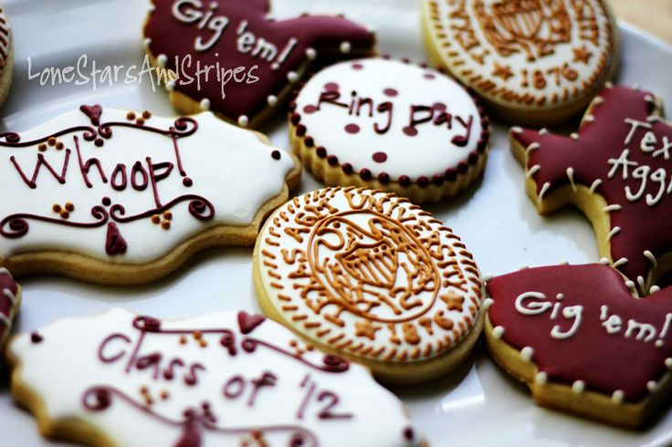 Aggie Ring Day Cookies
