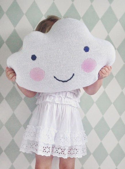 This cloud pillow would make any child smile no matter how rainy the day.